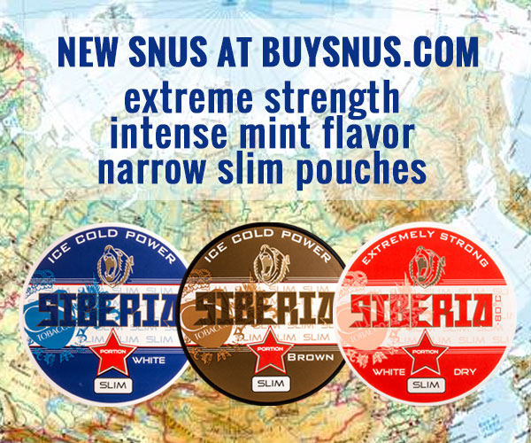New snus from GN Tobacco - Siberia in slim portions!